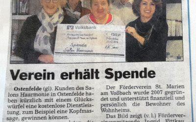 Weihnachtsaktion: Verein erhält Spende